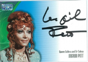 Doctor Who INGRID PITT as Queen Galleia and Dr Solow AUTOGRAPH CARD AU14, Strictly Ink -  10648